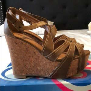 Soda Shoes - Brand new in box. Soda wedges